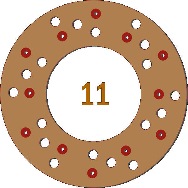 12 Pilot Hole 18 Trough Hole