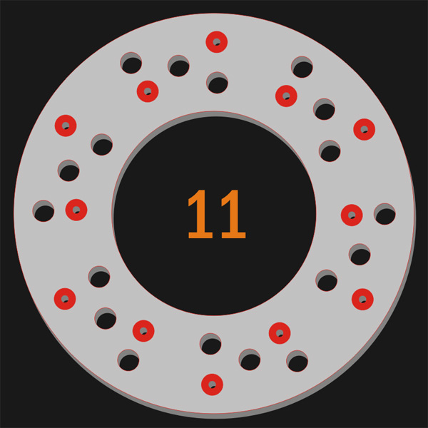 12 Pilot Hole 18 Trough