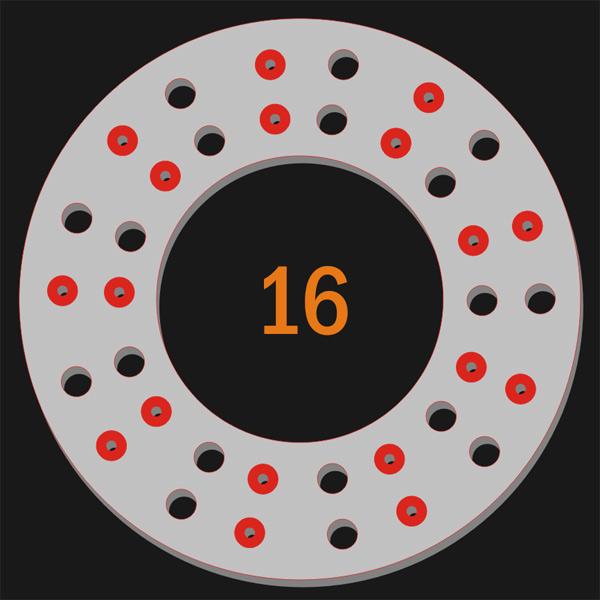 18 Pilot Hole 18 Trough Hole