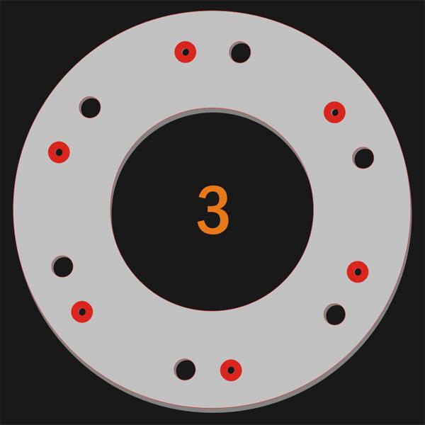 6 Pilot Hole 6 Trough Hole