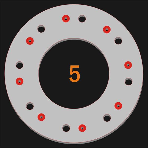 8 Pilot Hole 8 Trough Hole