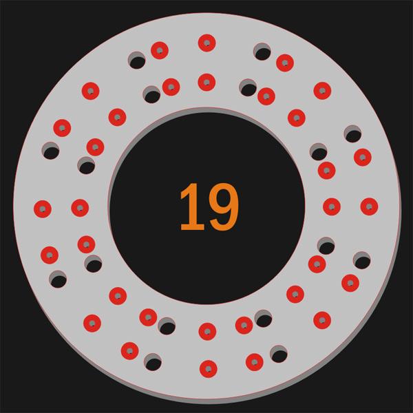 32 Pilot Hole 16 Trough Hole