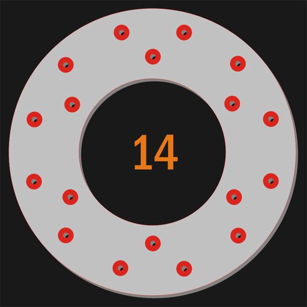 18 Pilot holes
